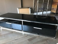 black and white wooden TV stand Montréal, H1V 3S4