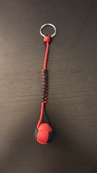 Black and Red 550 Paracord Monkey-fist keychain Towson, 21204