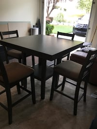 Rectangular wooden table with 4 chairs dining set Lawrenceville, 30043