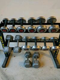 Weight set free weights 10 lb up to 40lb Commerce Charter Township, 48390