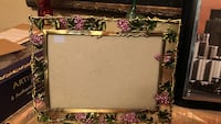 Metal Green/ pink picture frame