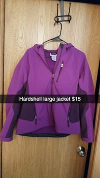 purple Hardshell zip-up hoodie Ames, 50014