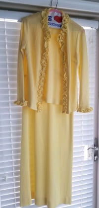 Mother Of The Bride Pale Yellow Dress W/Jacket Germantown, 20874