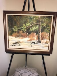 R Lyon painting signed in original frame Cary, 27513