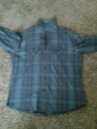 black and blue plaid button-up collared shirt Las Vegas, 89115