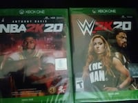 NBA 2K20 and WWE 2K20, brand new for xbox one Fort Mill, 29715