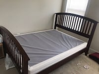 Queen Bed frame along with box. Chantilly, 20152