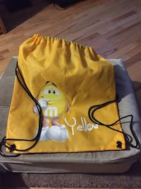 Yellow string backpack from m&m store in Vegas  Edmonton, T5P
