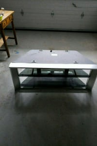 rectangular black metal framed glass top table Mississauga, L5W 1H4