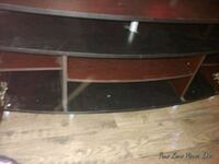 black and brown wooden TV stand Chicago, 60620