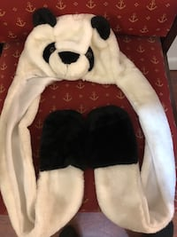 Panda winter hat with mittens at bottom  Jesup, 31545
