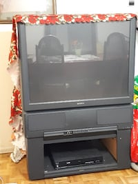 black and gray rear projection television Toronto