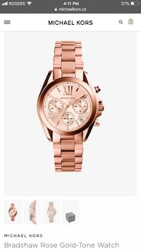 Michael Kors Bradshaw Watch - Authentic  Toronto, M4Y 1G2