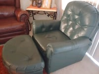 GREEN leather recliner and ottoman Las Vegas, 89113
