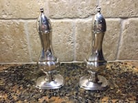 Silver salt and pepper shakers  Mississauga, L5C 4J5