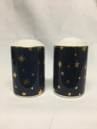 Galaxy Blue Salt & Pepper Shakers by Sakura Dallas, 75287