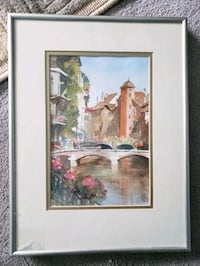 Framed Italy Painting  Milton, L9T