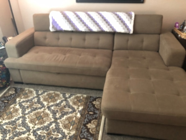 Outstanding Beautiful Sectional Sofa W Chase And Pull Out Bed 94L From Cushion To End Of Chase 49 Inzonedesignstudio Interior Chair Design Inzonedesignstudiocom