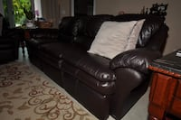 black leather 3-seat sofa Orlando