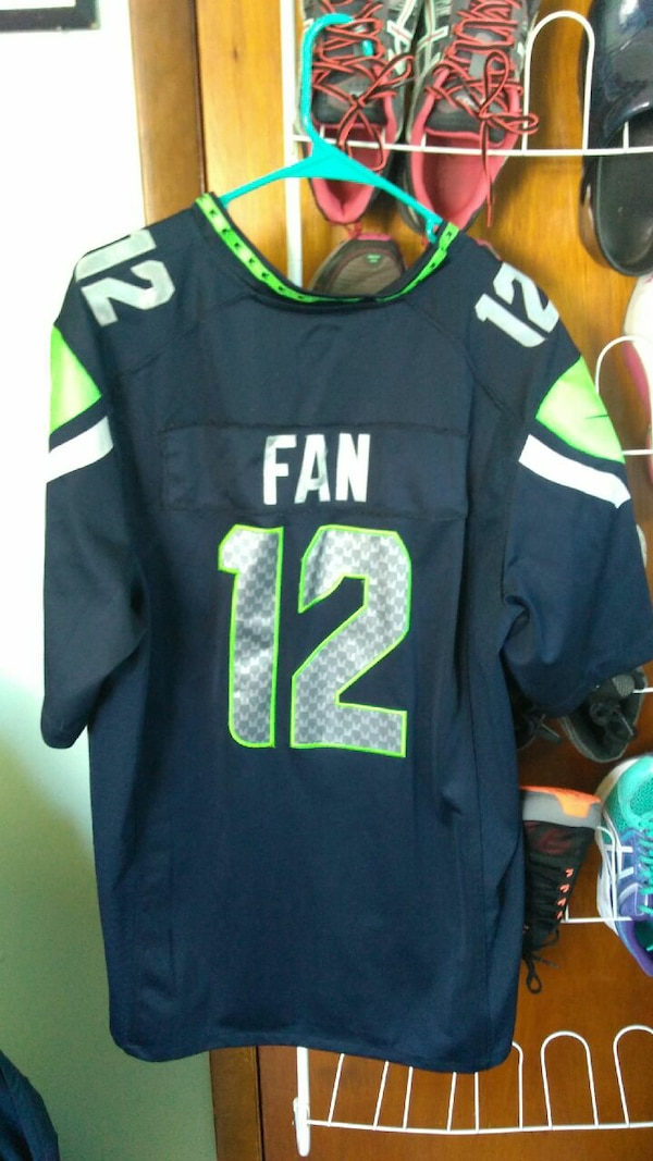 7391446ed Used Seahawks the fan  12 Jersey for sale in Saint Albans City - letgo