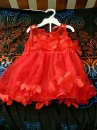 girl's red sleeveless dress Maryland Heights, 63043