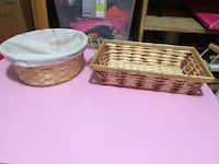 two white and brown wicker baskets 1956 km