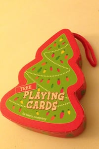 Holiday tree playing cards