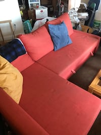 Sleeper Sectional Pullout Couch - 3 Seat with Storage - Dark Orange Las Vegas, 89119