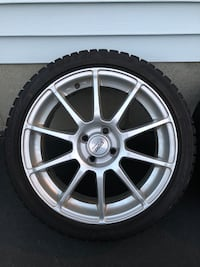 TWO Winter Tires 205/45r17 4x100 lug pattern East Haven, 06512