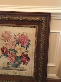 red and white flower painting with brown wooden frame Virginia Beach, 23454