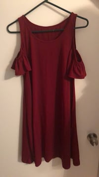 Women's red cold shoulder dress Gambrills, 21054