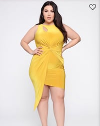 BRAND NEW FASHIONNOVA MUSTARD YELLOW PARTY DRESS Toronto, M6P 2T3