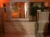 brown wooden dresser with mirror Detroit, 48235