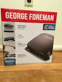 NEW George Foreman 4-Serving Removable Plate Indoor Grill Panini Press
