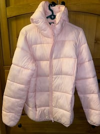 Jillian Harrison rare colour  pink rain jacket ; Vancouver, V5R 5X8