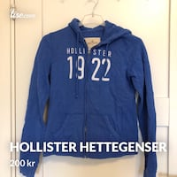 blå Hollister zip-up hettegenser 6256 km