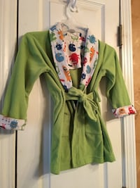 Cute Toddler Robe with Characters on Collar Decatur, 30034
