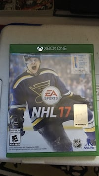 Nhl 17 xbox one game case Halifax, B4G 1E1