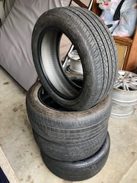 Set of used tires