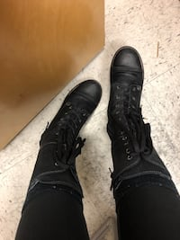 Tall leather combat boot Taos Langley, V3A 7E9