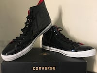 Men's Vinyl Chuck Taylors size13 black/red 48 km