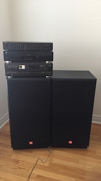 "JBL stereo system 12""speaker made in US, technics amp and equalizer with JVC CD player ... sparinglynused Mississauga, L5M 7L8"