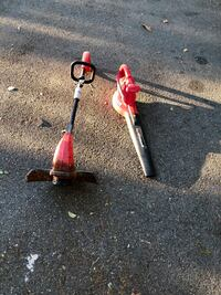 red and black electric string trimmer and leaf blower Vista, 92083