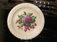 round white and pink floral ceramic plate Toronto, M2N 2B9