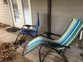 5 outdoor lounge chairs - adjustable