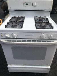 white and black gas range oven Silver Spring, 20904