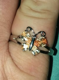 Champagne butterfly ring Elkhart