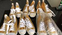 Kids Gold sequin tennis shoes multiple sizes