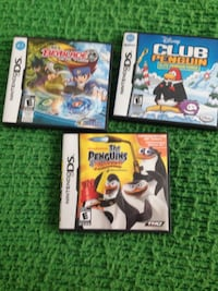 Three nintendo ds games penguins of Madagascar is sold . Winnipeg, R2K 2S2