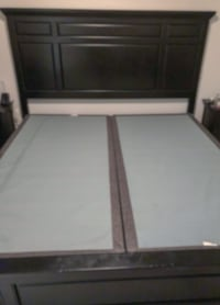King Sold wood frame and box spring   Langley, V2Y